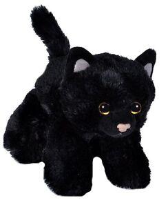 "BLACK CAT SOFT TEDDY BEAR TOY WILD REPUBLIC HUG'EMS 7"" CUDDLY PLUSH KITTEN KIDS"