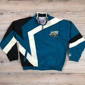 Jacksonville Jaguars Vintage NFL Football Starter Track Jacket Rare size L
