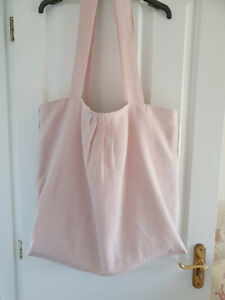 A Beautiful extra large Floppy Linen Soulder Bag made with Peony and Sage Linen
