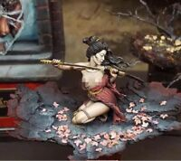 1/18 Resin Figure Model Kit Sexy Girl Japanese Samurai Unassambled Unpainted