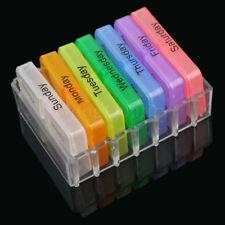 Weekly Medicine Storage 7 Day Tablet Pill Sorter Month Pill Case Organizer Box A