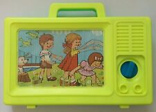 80s Toys. Vintage Musical Wind Up Scrolling TV Toy. Retro. 1985. MyKids