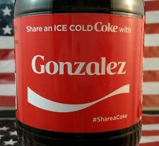 Share A Coke With Gonzalez Limited Edition Coca Cola Bottle 2017 USA