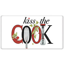 Kiss the Cook Decorative Kitchen FlourSack Towel-By Mary Lake Thompson
