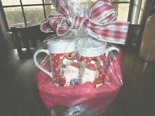 CHRISTMAS GIFT BASKET WITH WHITE TEA