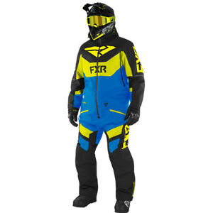 FXR Men Fuel Fx Monosuit Black/Blue/Hi Vis