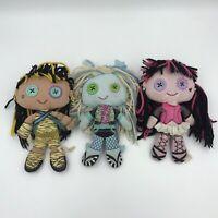 Monster High Plush Rag Cloth Doll Lot of 3 Mattel