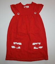 New Next UK Red Flower Applique Summer Dress 4 5 year 110cm NWOT Ladybug Buttons