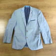 Brook Taverner Light Blue White Striped Boating Blazer Jacket Sport 40 Short
