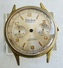 USED GOLD FILLED & STAINLESS STEEL CASE  FOR VALJOUX 22 CALIBER & DIAL