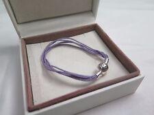 New Pandora Lavender L  Multi Strand Cord Bracelet 590715CLAM M3 Gift set opt
