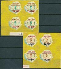 SIERRA LEONE 1965 KENNEDY SC# C35-36 CORNER BLKS of 4 VF MNH (D0144)