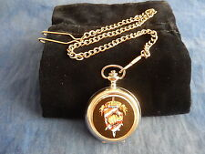 "SLADE ""WE'LL BRING THE HOUSE DOWN"" CHROME POCKET WATCH WITH CHAIN (NEW)"