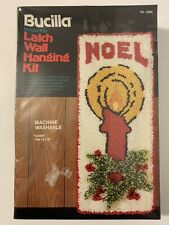 Vintage 70s New Bucilla Noel Christmas Latch Wall Hanging Kit Candle Rug 12x30