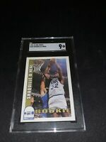 1992 Hoops Shaquille O'Neal ROOKIE RC #442 SGC 9 MINT+