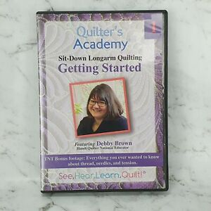 Quilter's Academy DVD - Getting Started With Sit Down Quilting Debby Brown