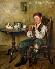 Penny Whistle by Charles Spencelayh - Boy Play Music  8x10 Print Picture 1872