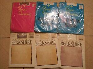 Berkshire Mixed Pantyhose Ultra Sheer  Lot of 6 Size Queen