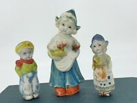 3 Vintage Hand-painted ASIAN Porcelain Figurines Marked Made In JAPAN