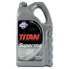 Fuchs Titan Superma 15W-50 Engine Oil 15W50 5 Litres 5L