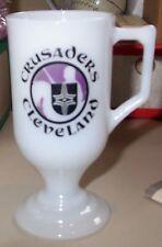 1970's Cleveland Crusaders Hockey Milk Glass Mug