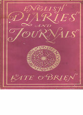 NGLISH DIARIES & JOURNALS  by Kate O'Brien   BIP Hardback & Jacket 1st Ed 1943