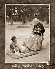 Telling Grandma My Story Native American Mini Poster