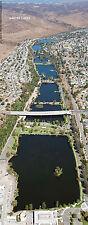 Santee Lakes San Diego California Aerial Panorama Poster   #27