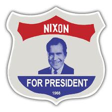 retro nixon for president sticker shield  85mm x 85mm reproduction
