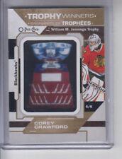 18/19 OPC Chicago Blackhawks Corey Crawford Trophy Winners Patch card #P-22 SP
