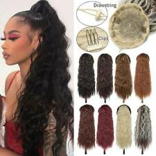 US Kinky Curly Drawstring Pony Tail Wavy Wrap On Ponytail Clip In Hair Extension