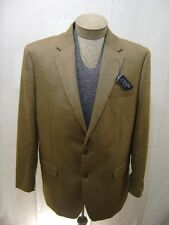 Chaps Mens Rayon Coat 2 Button Brown Herringbone Suit Jacket Full Lined 42L $175
