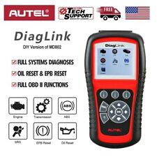 Autel Diaglink OBD2 ABS SRS Car Diagnostic Scanner Code Reader All Systems MD802