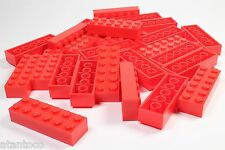 LEGO Red Brick 2x6 - Brand New (Lot of 25 Pieces)