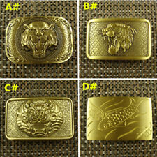 Collectable Solid Brass Tiger Dragon Fish  Belt Buckle Men's Belt Buckles