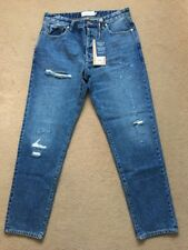"NEXT Men's Slim Tapered Blue Ripped & Repaired Denim Jeans, 30R, W30"" L31"",£40"