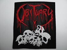 OBITUARY SKULLS      EMBROIDERED  PATCH