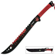 "25"" Z-Hunter Full Tang Zombie Killer Sword Apocalypse Machete Sharp Large Red"