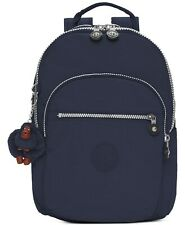 "Kipling Seoul Large 17"" Padded Laptop Backpack Book Bag Navy / Silver NWT $114"