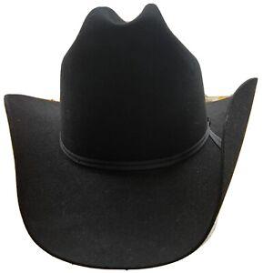 "Resistol 4XXXX Beaver 007 Black Self Conforming  Cowboy Hat 7 1/8, 3 1/2"" Brim"