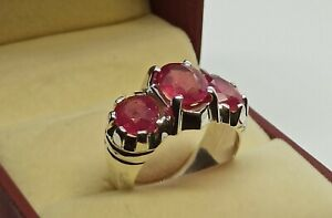 Natural Ruby Ring American Seller AR267 Ruby Gemstone 925 Sterling Silver Ring Free Shipping