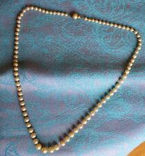 Vintage Faux Pearl Off White Beaded Necklace
