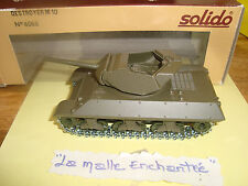 TANK SOLIDO MILITAIRE DESTROYER M 10 REFERENCE 6068 1/50 avec BOITE