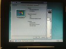Laptop Vintage Retro Computer Toshiba Satellite S1640CDT/6GB Windows 98 PERFETTO