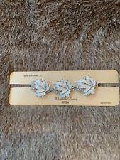 Vintage Sarah Coventry Whispering Leaves Bracelet 1961 9724 Silvertone White