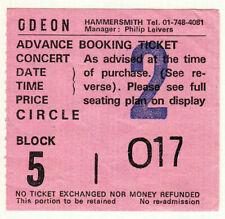 Robert Plant *Rare* 1983 London Concert Ticket Hammersmith led zeppelin rock