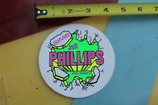 SIMS Jeff Phillips Skateboards Vintage NOS Neon 1980's Skateboarding STICKER