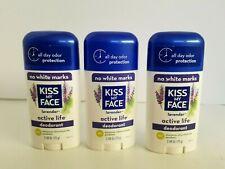Kiss My Face Active Life Deodorant Lavender 2.48 oz Vegan Cruelty Free Lot 3