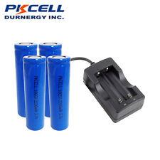 4 x 18650 3.7V 2200mAh Li-ion Rechargeable Battery + 18650 Battery EU Charger