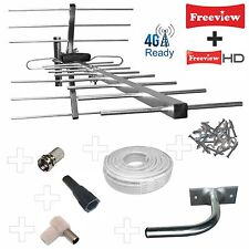 FULL KIT: 4G/LTE READY CLASSIC DIGITAL HD TV AERIAL+20m Cable +Wall Bracket